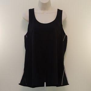 Calvin Klein Black Sheer Sleeveless Blouse